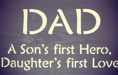 LIVING BY FAITH: Daughter's First Love is Her Dad