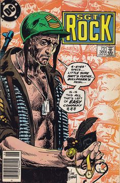 cover by Joe Kubert Comic Book Pages, Dc Comic Books, Comic Book Covers, Comic Art, War Comics, Dc Comics Art, Anime Comics, Joe Kubert, Comics Toons