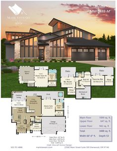 Maxon by Mark Stewart Home Design Modern House Floor Plans, Sims House Plans, House Layout Plans, Dream House Plans, House Layouts, Mansion Plans, Casas The Sims 4, Sims House Design, Architectural House Plans