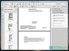 Скриншот программы Adobe Acrobat для Windows 10