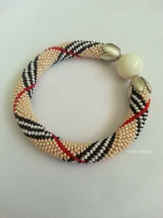 Hey, I found this really awesome Etsy listing at https://www.etsy.com/listing/196115248/beaded-bracelet-beaded-crochet-bracelet