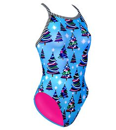 Dolfin Uglies Kringle- Deck the pool deck this winter in the Christmas tree-covered Dolfin Uglies™ Kringle suit. This suit makes a great gift for anyone who loves the holiday season. (http://www.swimoutlet.com/product_p/33371.htm)