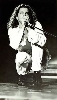 Michael Hutchence was such a excellent and talented performer, lead singer in the band INXS