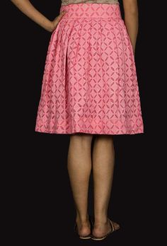 Pink applique skirt