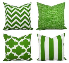 Outdoor Pillow Covers  Green Pillow  Green by CastawayCoveDecor