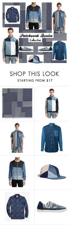 """#7"" by hmytran ❤ liked on Polyvore featuring Daily Paper, Cerruti 1881, Laboratory LT Man, Album, Brooks Brothers, men's fashion, menswear, denim and patchwork"