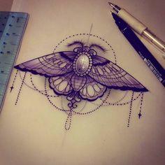 Moth sophieadamson tattoo sketch