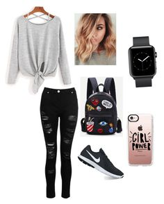 """College/school Outfit"" by tavleenkaur on Polyvore featuring Dorothy Perkins, NIKE and Casetify"