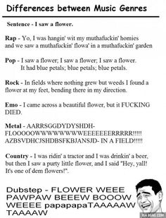 Differences between music genres