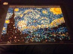 Starry Night (Van Gogh) perler beads by soultwinsprites