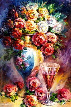 FALLEN ROSES - Palette knife Oil Painting on Canvas by Leonid Afremov http://afremov.com/FALLEN-ROSES-Palette-knife-Oil-Painting-on-Canvas-by-Leonid-Afremov-Size-30-x20.html?utm_source=s-pinterest&utm_medium=/afremov_usa&utm_campaign=ADD-YOUR