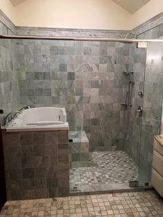 Stylish walk in tub and shower combination mansfield plumbing is one of images from walk in shower and tub. Find more walk in shower and tub images like this one in this gallery