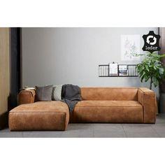 Op de @madebyWoood  Bean hoekbank links kan je heerlijk relaxen #bean #boon #woood #wood #hout #hoekbank #bank #relaxen #designbank #leer #stoer #couch #design #Flinders