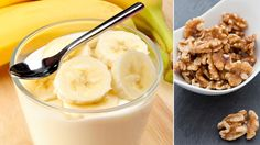 Healthy breakfast combo: non-fat plain Greek yogurt with chopped, unsalted nuts, and a mashed banana. #breakfastrecipes #healthyeating #healthyrecipes #everydayhealth | everydayhealth.com