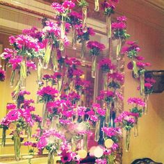 Gorgeous floral arrangement hanging in the Four Seasons in Beverly Hills #QVCRedCarpet