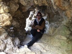 Intern Exploring a Cave in France