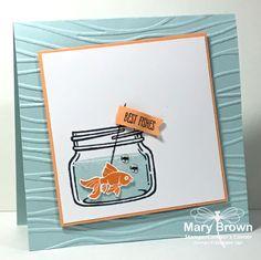 Jar of Love, Stamping Up, Best Fishes Mason Jar Cards, Mason Jar Diy, Wine Bottle Crafts, Jar Crafts, Pots, Love Stamps, Whimsy Stamps, Shaker Cards, Love Cards