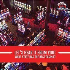 What state has the best casinos, in your opinion? Comment down below! www.americancasinoguidebook.com/ #casino #poker #gambling #jackpot #casinoonline #roulette #lasvegas #livecasino #blackjack #money #statecasino #betting #win #vegas #AtlanticCity #Nevada #bonus #baccarat #casinos #slotgame #bets #bettingtips #money #bettingexpert #onlinecasino #ACGBrecommends #ACGBpicks #travelwithACGB Best Casino, Live Casino, American Casino, Casino Poker, Online Casino Bonus, Atlantic City, Guide Book, Nevada, Las Vegas