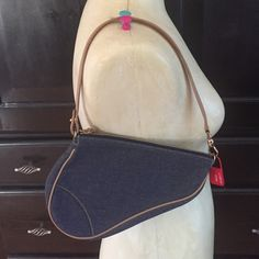 Christian Dior mini saddle bag Denim mini bag. Authentic. Includes cards and dust bag. No trades no low offers. Dior Bags