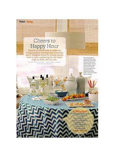 chevron tablecloth- Grant K. Gibson - the blog