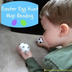 Easter Egg Hunt Map Reading - follow a map to find where the Easter eggs are hidden