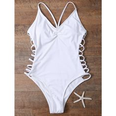 Cami High Cut Cutout One Piece Swimwear ($12) ❤ liked on Polyvore featuring swimwear, one-piece swimsuits, swimsuit, cut-out swimwear, cut out bathing suit, swim suits, cut-out one piece swimsuits and one piece bathing suits