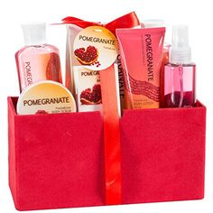 Pomegranate Bath Spa Gift Set in Red... $26.99 #topseller