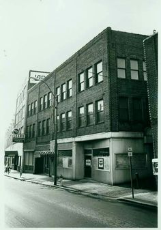 """""""At far left in the Haverty Building is Jared's Restaurant, which served a Classical French menu.""""  Shared by Deborah Lewis-Smith on """"Asheville, the way it WAS"""" Facebook page.  60 Haywood St.  Across the street from what is now the Downtown Library."""