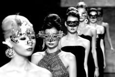 Masked models walk the runway at the B. Michael America fashion show http://www.theweek.co.uk/pictures/57254/new-york-fashion-week-2014-pictures#ixzz2tDP5g9Vc