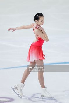 News Photo : Polina Tsurskaya of Russia competes during the...