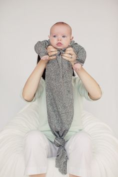 Original Knottie™ baby sleeper gown baby gift by LalasPequenos