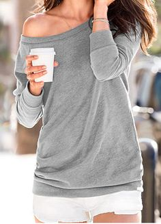 #grey off the shoulder tunic  http://rstyle.me/n/gihmzpdpe