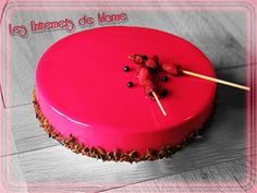 1000 images about entremets et bavarois on pinterest for Glacage miroir noir