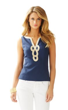$118 Janice Sleeveless Top - Lilly Pulitzer