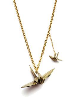 Zobacz zdjęcie naszyjnik żurawie origami w pełnej rozdzielczości