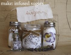 infused sugars: but with raw sugar