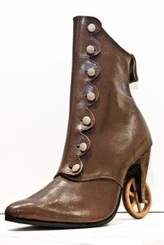 Steam punk Wheel boot byPendragon Shoes | photo copyright Bibiana Stanfield at commercialphotography4u