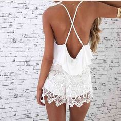 white rompers are perfect for the summer time // find rompers at effinshop.com!