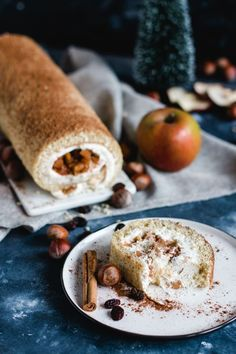 Weihnachtliche Bratapfel Biskuitrolle Recipe for Christmas Baked Apple Sponge Roll – The Perfect Dessert for Dessert Parfait, Bon Dessert, Dessert Party, Baking Recipes, Snack Recipes, Dessert Recipes, Pie Recipes, Christmas Desserts, Christmas Baking