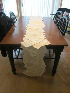 Book page table runner :  wedding book diy inspiration ivory literary reception table runner white IMG 0152