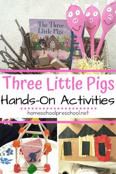 Your kids will love diving deep into the story with these hands-on Three Little Pigs preschool activities! Worksheets, STEM challenges, and crafts galore! 3 Little Pigs Activities, Educational Activities For Preschoolers, Fairy Tale Activities, Eyfs Activities, Hands On Activities, Toddler Activities, Preschool Activities, Montessori Kindergarten, Pig Crafts