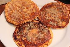 Sweet Potato Pancakes.... I was REALLY skeptical of how these taste, but they are AWESOME, and they are healthy for you!!!