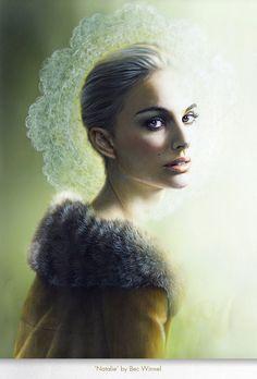 'NATALIE' by Bec_Winnel #art #oil #portrait