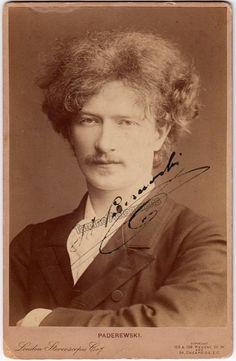 Paderewski, Ignacy - Signed Cabinet Photo