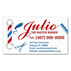 220 best barber business cards images on pinterest in 2018 barber barber business card design customizable pole wajeb Image collections
