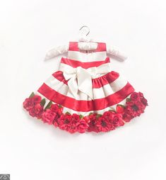 Buy Little Pixie Embellishment Red Floral Kids Party Dress for your little one at best price. Whatsapp at Baby Couture Baby Birthday Dress, Birthday Dresses, Beautiful Party Dresses, Nice Dresses, Newborn Outfits, Kids Outfits, Cool Kids Clothes, Summer Clothes, Red Floral Dress