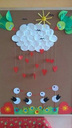 Pin by Keriann Campbell on Kids Crafts & Activities (With images) Kids Crafts, Preschool Crafts, Projects For Kids, Diy For Kids, Diy And Crafts, Arts And Crafts, Paper Crafts, Decoration Creche, Class Decoration