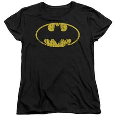 """Checkout our #LicensedGear products FREE SHIPPING + 10% OFF Coupon Code """"Official"""" Batman / Classic Logo Distressed - Short Sleeve Women's Tee - Batman / Classic Logo Distressed - Short Sleeve Women's Tee - Price: $29.99. Buy now at https://officiallylicensedgear.com/batman-classic-logo-distressed-short-sleeve-women-s-tee"""