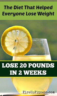I am sharing this diet with you that may help lose 20 pounds in 2 weeks. The diet is purely based on drinking lemon water every day for 2 w...