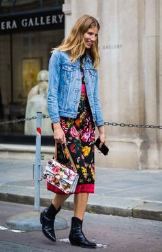 14 Stylish Summer Outfits With Cowboy Boots Stylish Summer Outfits, Spring Outfits, Outfit Summer, Streetstyle 2016, Cowboy Boot Outfits, Cowboy Boots, Pantalon Slim Noir, Bootfahren Outfit, Street Style Chic